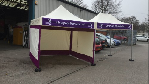 Branded Gazebos Banners option
